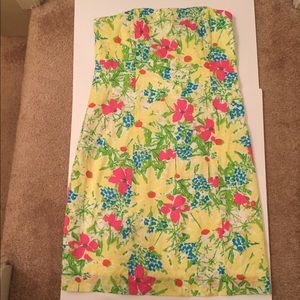 Lilly Pulitzer Strapless Dress Women's Size 10